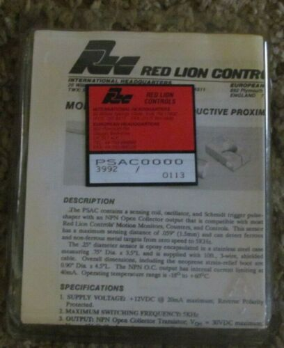 Red Lion Controls Inductive Proximity Sensor Cable PSAC0000 new