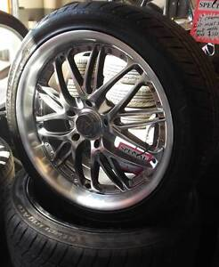 "18"" FX Motorsport Alloys With Tyres To Suit Commodore Toowoomba Toowoomba City Preview"