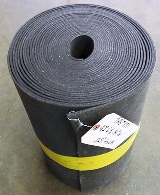 Unknown Brand Conveyor Belt 42 L. 18 W. .125 Thick Black Nitrile