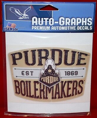 Purdue Retro Badge Distressed Decal TOTAL CLOSEOUT