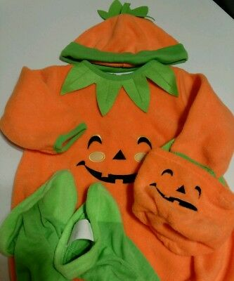 Halloween Costume for Baby Grand Pumpkin 12 Mos NWT w/Adorable & Fun Cap & Bag
