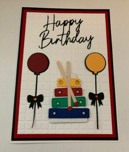 Handmade Greeting Card happy birthday cake Card