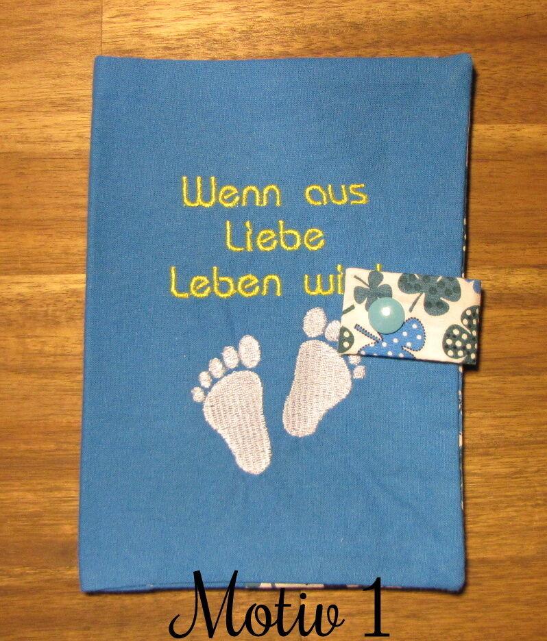 Mutterpasshülle | Geschenk | Handgemacht Blau Motiv 1