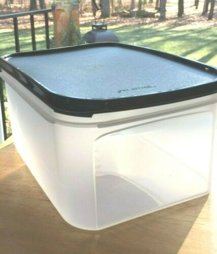 New Tupperware modular mates rectangle 3 container with black seal