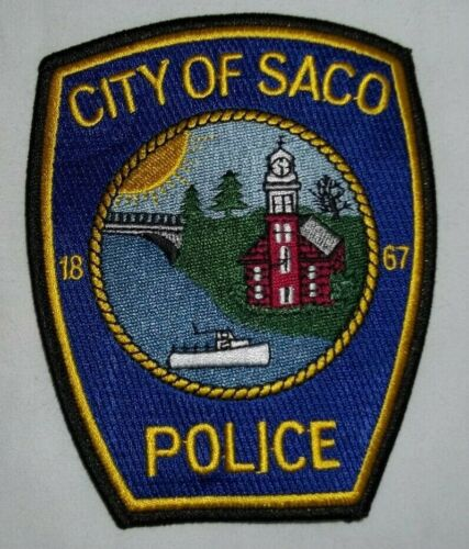 NEW Embroidered Uniform Patch CITY OF SACO POLICE MAINE  NOS