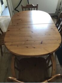 Pine dining table and chairs. FREE delivery in Derby