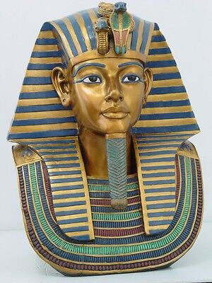 LARGE EGYPTIAN PHARAOH KING TUT BUST STATUE DETAILED CRAFTSMANSHIP SCULPTURE on Rummage