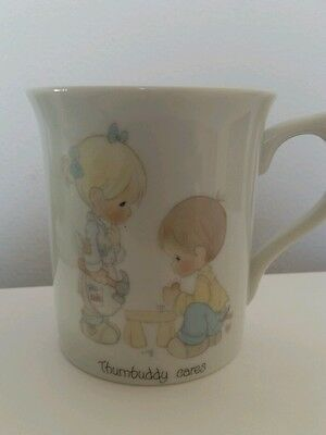 "Precious moments mug "" Thumbuddy Cares"""