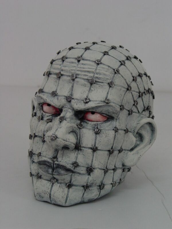ZOMBIB WHOLE FACE SCREWED FULL OF SCREWS FIGURINE SKELETON.BIZARRE COLLECTIBLE