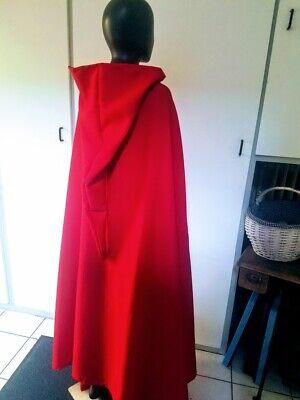 Rotkäppchen Umhang mit spitzer Kapuze rot Cape Fasching Karneval Kostüm
