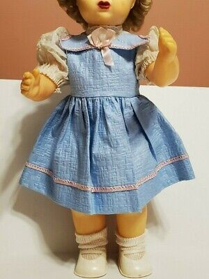 Vintage Blue Doll Dress w/Attached Panties Fits 16