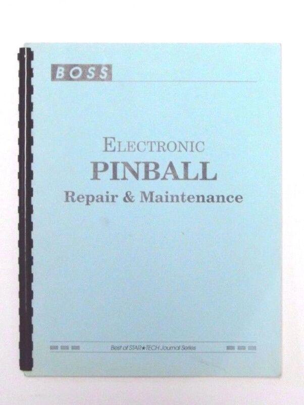BOSS electric pinball repair and maintenance manual v.1