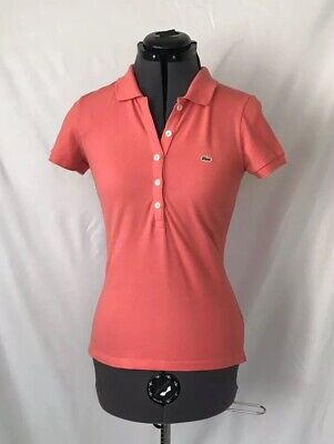 Size 36 Lacoste Coral Polo