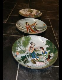 3 chinese plates