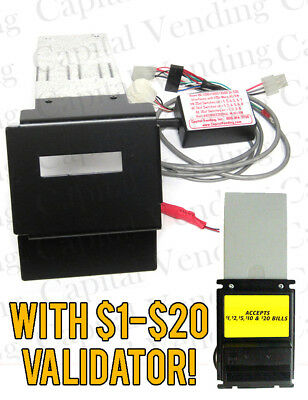 Rowe Bc3500 1-20 Dollar Bill Changer Update Kit To Mei Mars Validator Ba50