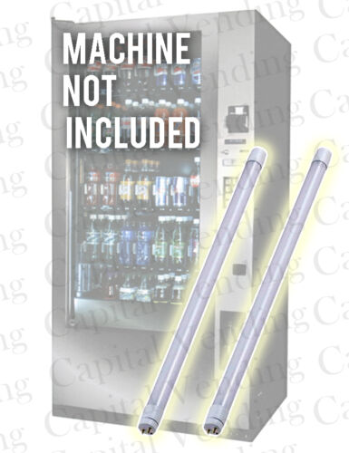 2x LED Lighting Tubes for Royal Vendors Vision Vendor