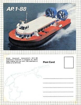 BC268 1960s GB *British Hovercraft Co* Service Postcards{2} Album Page