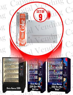 Dixie Narco Bev Max 5591 3561 For New Diet Coke Flavors Shim Kit Set Of 9