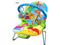Just4baby dinosaur musical vibrating bouncy chair