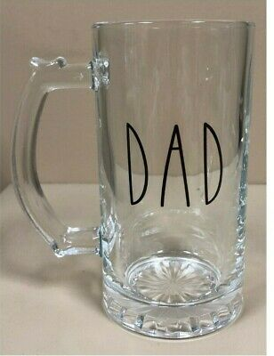 BEER MUG GLASS ~ CUSTOM IMPRINT ~ 16 OZ CLEAR OR FROSTED quick shipping