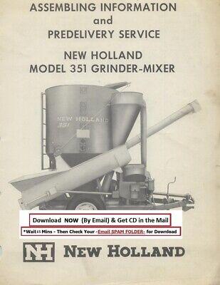 New Holland Grinder Mixer Model 351 Operator Instruction Manual