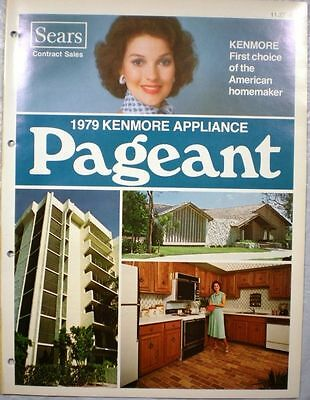 Vtg Sears Kenmore Appliances Catalog Retro Kitchen Range Oven Refrigerator 1979