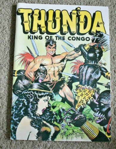 Frank Frazetta Thunda King Of The Congo NM(9.4)  Russ Cochran 1973  Over Size