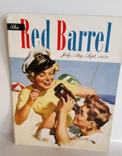 July. Aug. Sept 1952 The Red Barrel, Drink Coca Cola Magazine, Couple At Beach