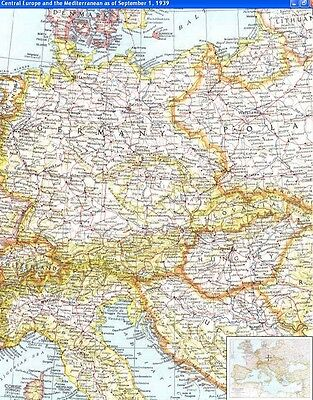 National Geographic Maps  1930's --  U Pick