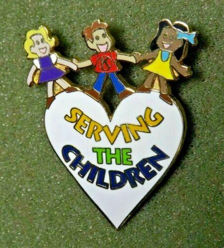 Kiwanis International Heart Shaped Lapel Pin Pendant Serving The Children