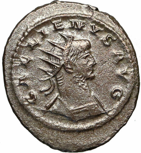 GALLIENUS Authentic Ancient 267AD Genuine Original Roman Coin JUPITER i84920