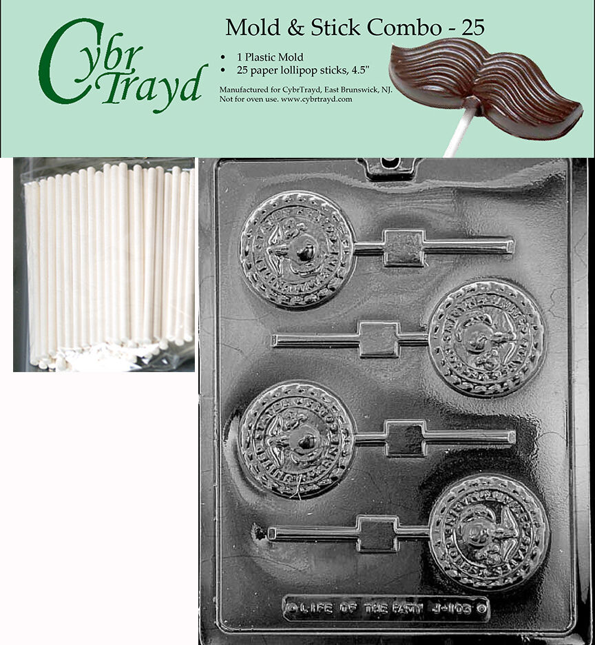 marine military lolly chocolate mold w instructions