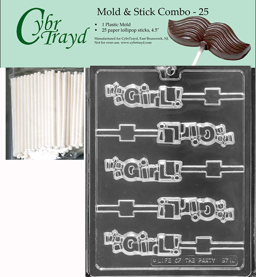 it s a girl lolly chocolate mold