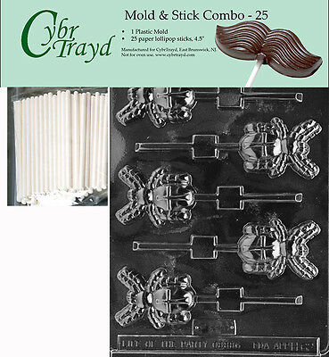 Halloween Chocolate Spiders (Spider Lolly Halloween Chocolate Mold w/Cybrtrayd Instructions FREE)