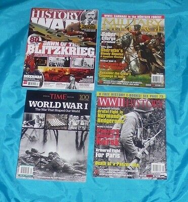 4 Magazines History of War WW1 WW2 Military Heritage Brand New Free Shipping