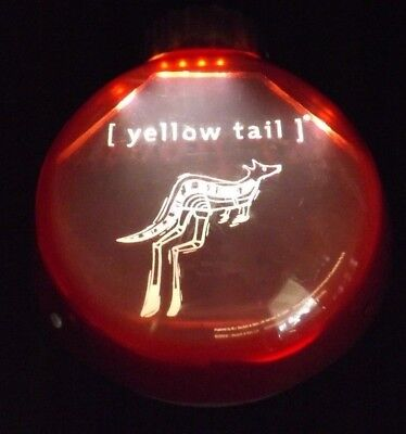 "YELLOW TAIL WINE CHRISTMAS ORNAMENT BAR FLASHING LIGHT SIGN BATTERY WKS 12"" WIDE"