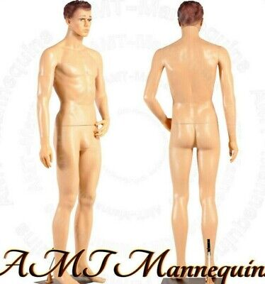Male Mannequin 6ft Metal Stand Head Turns Full Body Realistic Manikin-ym8-f