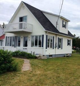 Water view cottage for rent near Shediac