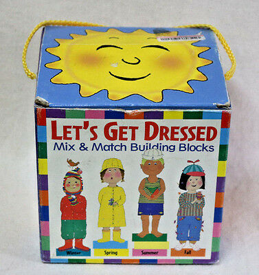 VTG Season Learning Toy LETS GET DRESSED Mix & Match Building Blocks