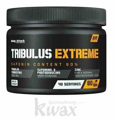 (21,17 Euro/100g) Body Attack Tribulus Extreme 80 Kapseln online kaufen