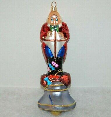 Radko PHILADELPHIA STORY Christmas Ornament 98-105-0 BEN FRANKLIN & LIBERTY BELL ()