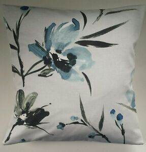 Nara Watercolour Painted Floral Teal Cushion Cover 16