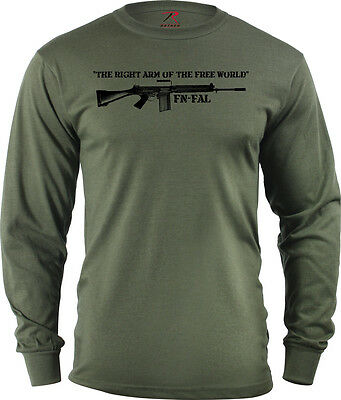 Long Sleeve FN FAL T Shirt The Right Arm of the free World 7.62 NATO 308 (Arms Long Sleeve T-shirt)