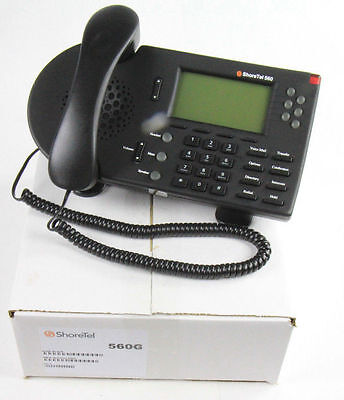 Shoretel 560G Black Ip Gigabit Phone Shorephone   Lot