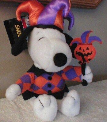 """Hallmark Peanuts Snoopy Halloween Jester Mini Plush 9"""" New w/Tag"""