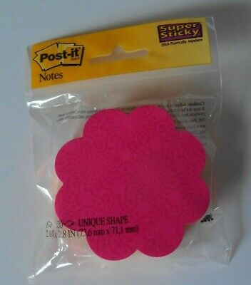 Post-it Notes 150 Flower Die Cut New 3m Pink Yellow 2.9 X 2.8 Super Sticky