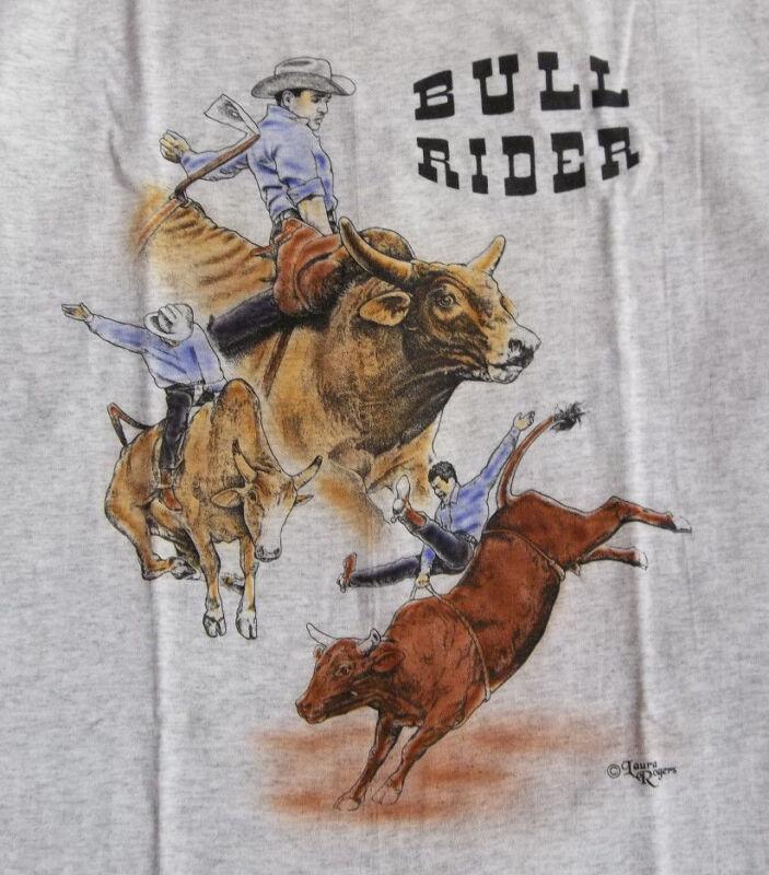 """Bull Rider T-shirt  """" Ash """" XL ( 46 ~ 48 )"""
