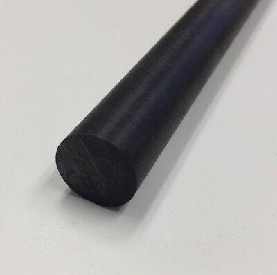 Delrin Acetal Rod Black 34 .750 Diameter 12 Long Bushings Bearings