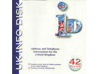 UK - INFO DISK 1.0 1997 FULLY SEARCHABLE NAME, ADDRESS AND PHONE INFORMATION