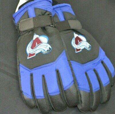 NWT Colorado Avalanche Genuine NHL Product Adjustable Insulated Gloves 4.0 Brand